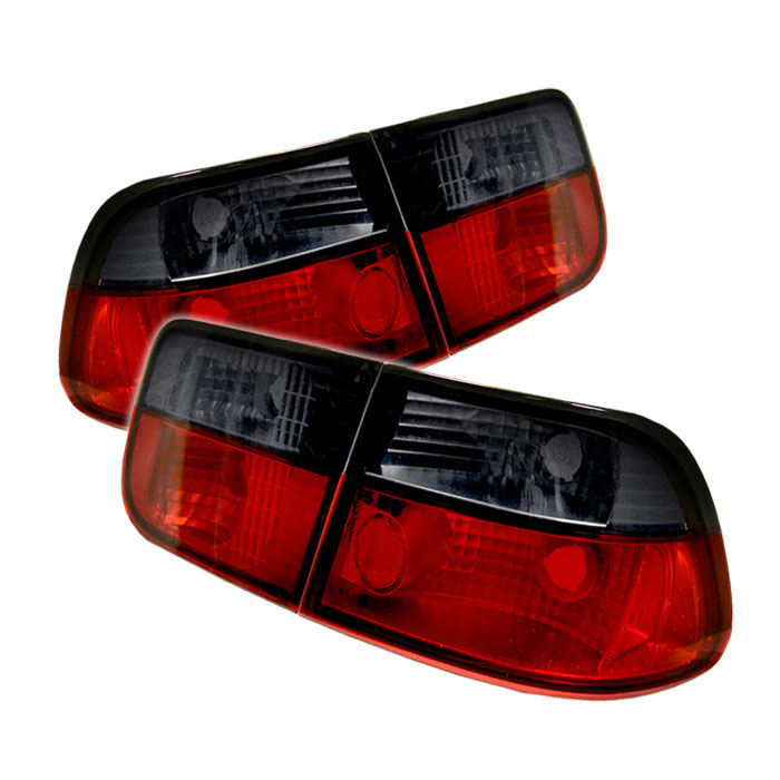 Spyder ALT-YD-HC96-2D-RS - Spyder Honda Civic 96-00 2Dr Tail Lights - Red Smoke