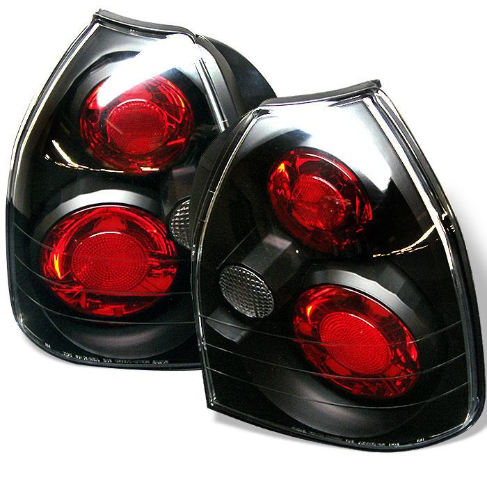 Spyder ALT-YD-HC96-3D-BK - Spyder Honda Civic 96-00 3DR Altezza Tail Lights - Black