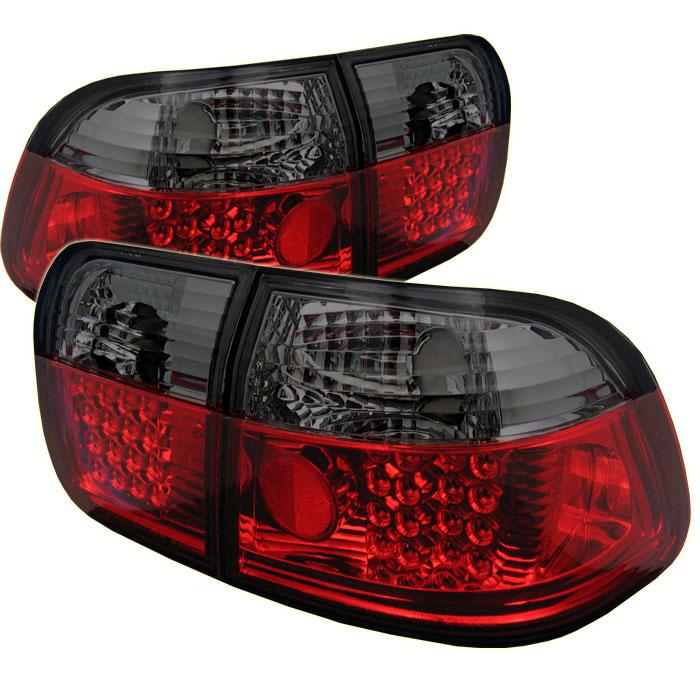 Spyder ALT-YD-HC96-4D-LED-RS - Spyder Honda Civic 96-98 4Dr LED Tail Lights - Red Smoke