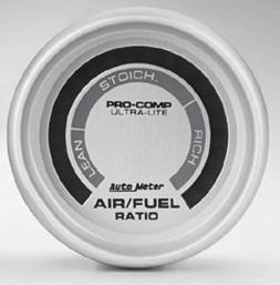Auto Meter AM4375 - Auto Meter Ultra-Lite Air/Fuel Gauge (Silver Dial, Silver Bezel)