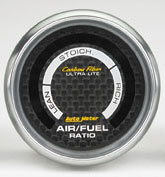Auto Meter AM4775 - Auto Meter Carbon Fiber Air/Fuel Ratio (Carbon Fiber Dial, Silver Bezel)