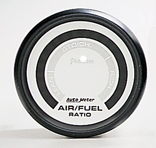 Auto Meter AM5775 - Auto Meter Phantom Air/Fuel Ratio ( White Dial, Black Bezel)