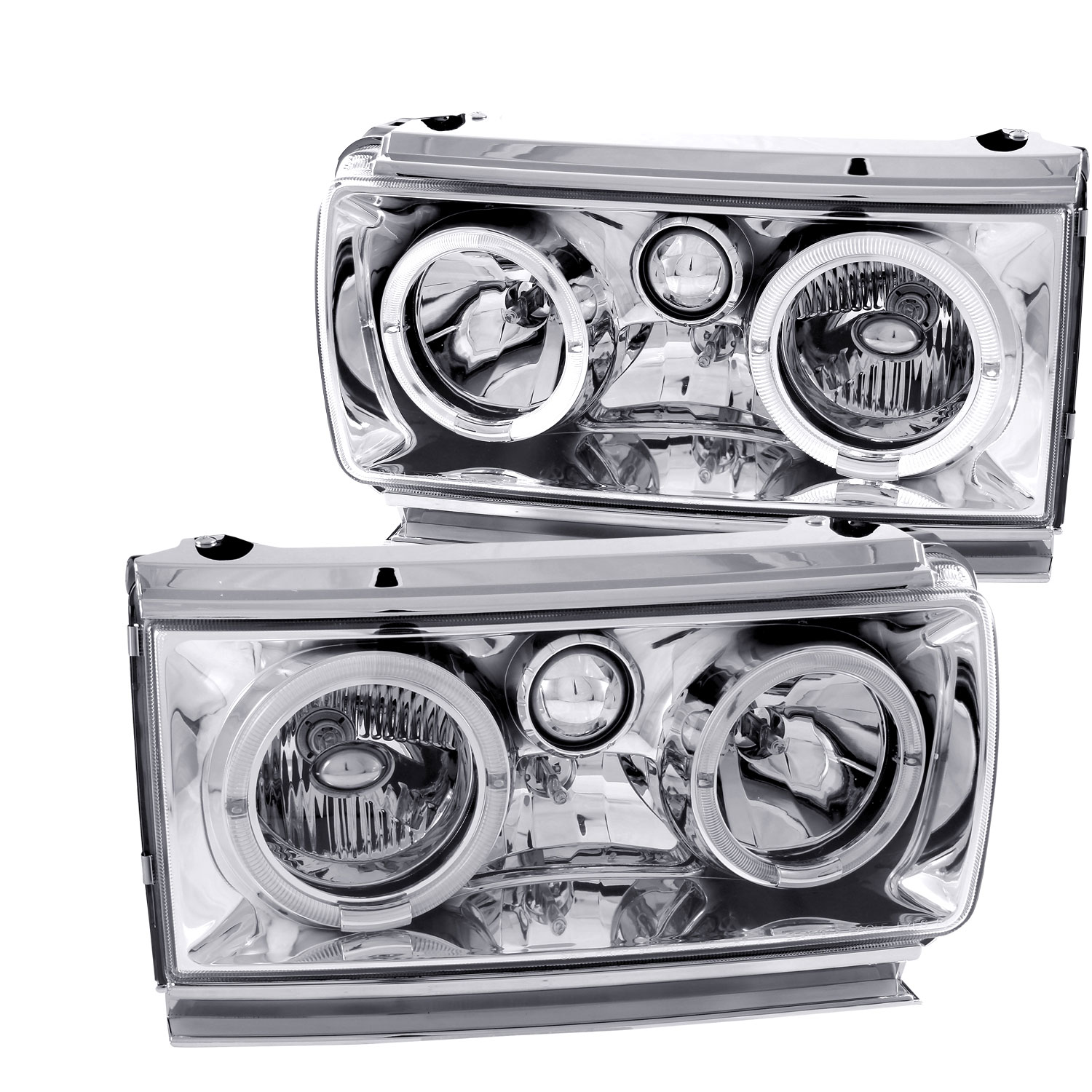 Anzo 111092 | ANZO USA Toyota Land Cruiser Crystal Headlights W/ Halo  Chrome