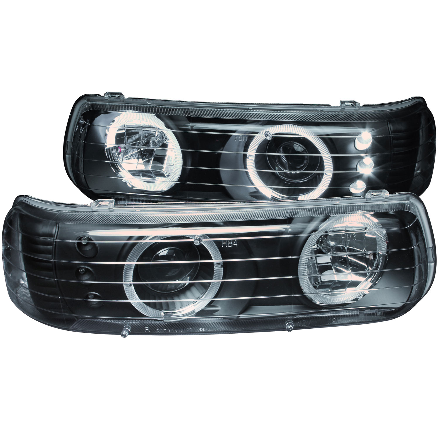 Anzo 111189 | ANZO USA Chevrolet Tahoe Does Not Fit GMC Models Projector  Headlights W/ Halo Black