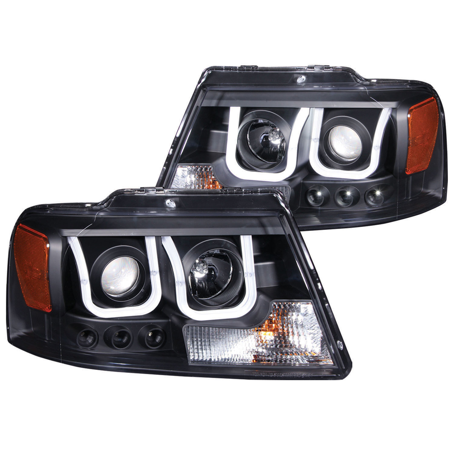 Anzo 111288 Anzo Usa Ford F 150 Projector Headlights W
