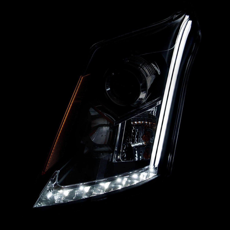 Anzo 111307 Usa Cadillac Srx Projector Headlights W Plank Brake Wiring Style Design Chrome