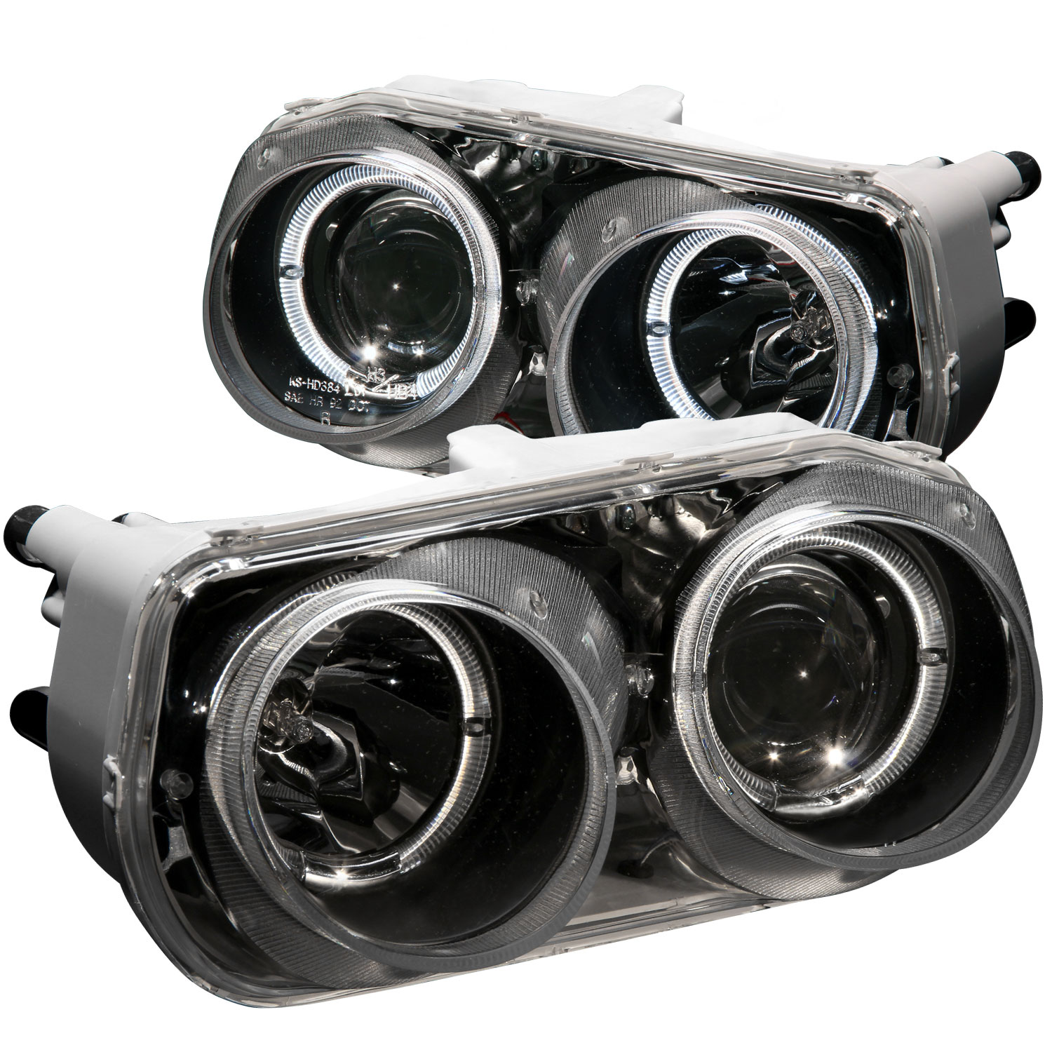 Anzo 121003 Anzo Usa Acura Integra Projector Headlights W Halo Black 1994 1997