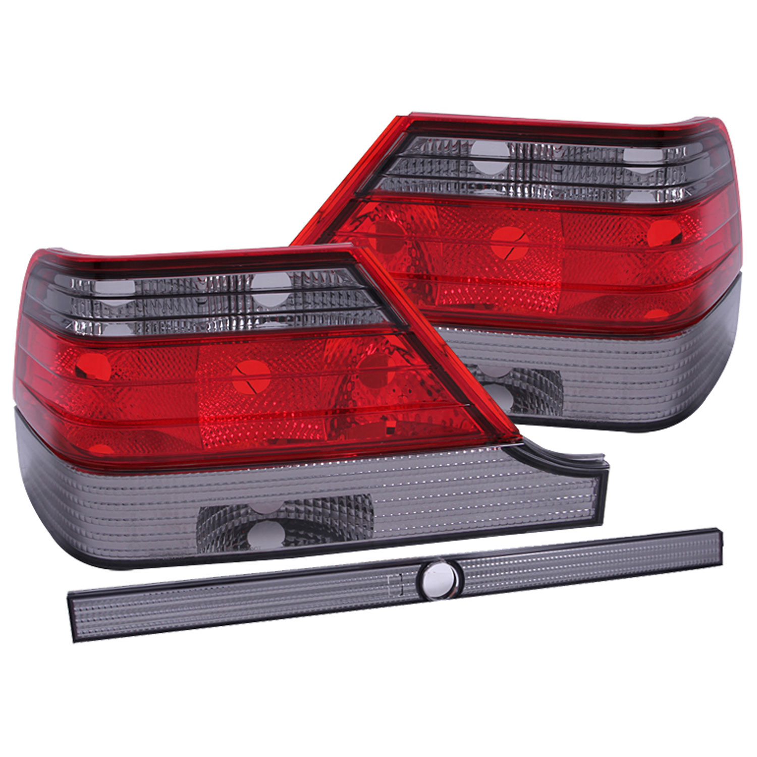 Anzo 221154 | ANZO USA Mercedes Benz S Class W140 Taillights Red/Smoke;  1995 1999