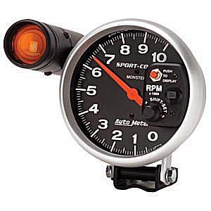 Auto Meter AUTO3904 - Auto Meter Sport-Comp 10,000 RPM TACH
