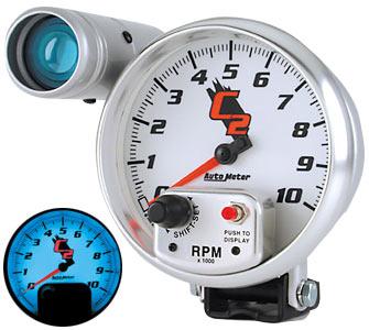Auto Meter AUTO7299 - Auto Meter C2 10,000 RPM TACH