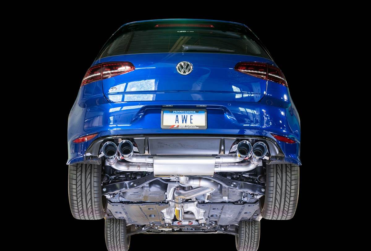 Mk7 Golf R >> Awe Tuning 3025 42020 Vw Golf R 2 0l Turbo Mk7 Switchpath Exhaust With Chrome Silver Tips 102mm 2015 2017