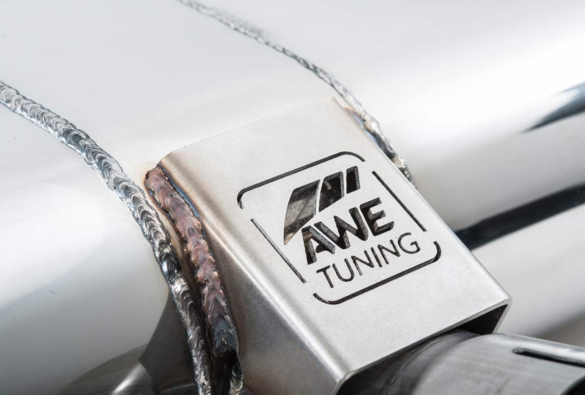AWE Tuning 3015-32056   Audi A3 Sedan 2 0L Turbo Touring Edition Exhaust -  Dual Outlet, Chrome Silver mm Tips