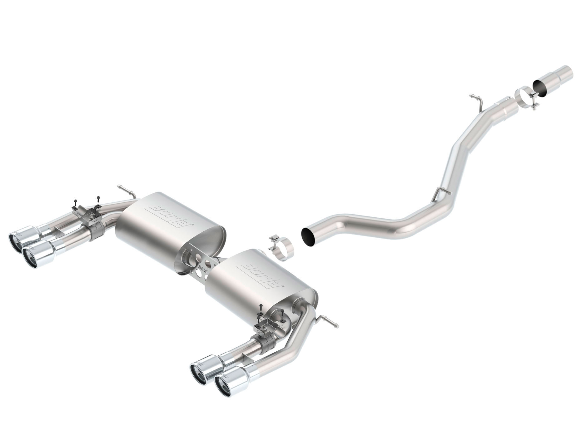 borla exhaust 140631 borla audi s3 s type cat back exhaust system rh lmperformance com Audi A3 Milltek Exhaust Audi A3 Performance