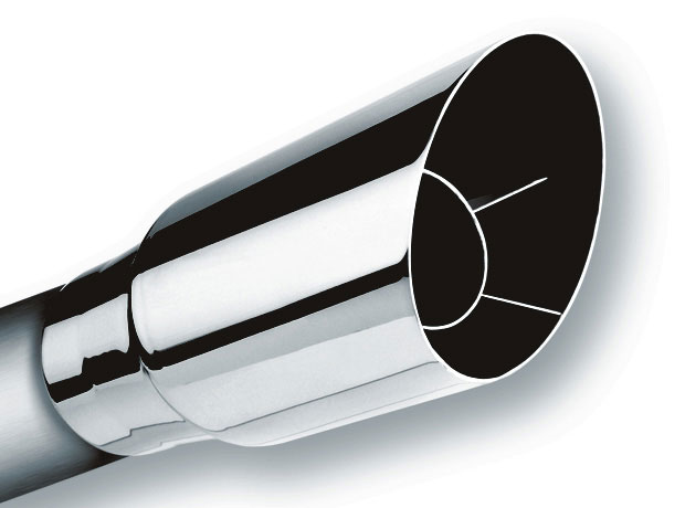 Borla 20120 - Borla Single Round Angle-Cut Intercooled Tip (each)