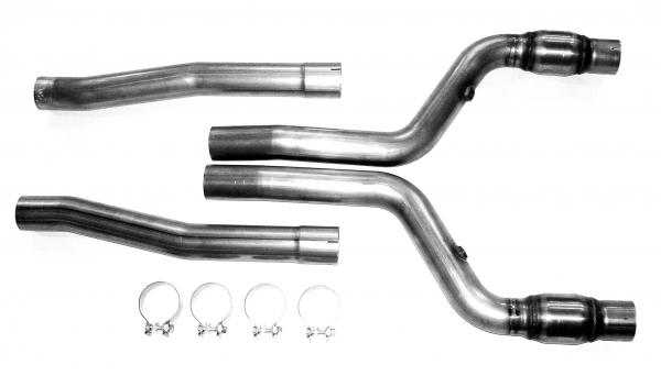Bassani 616SRT3 - Bassani Down Cat Pipe for Charger 06-08 SRT-8 6.1L