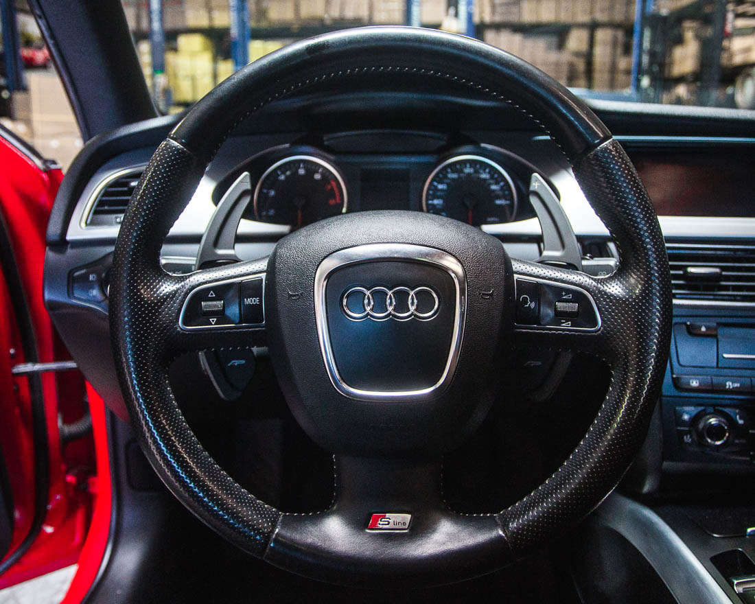 Black Audi 2015 A5
