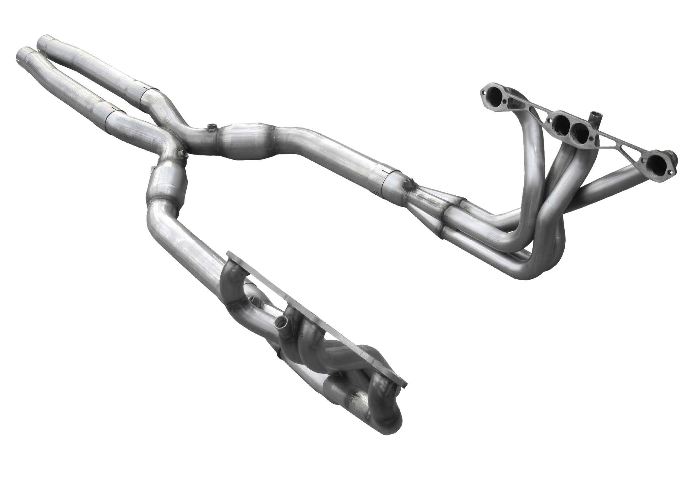 American Racing Headers C4-84134300LSWC | ARH LongTube 1-3/4 304-SS Headers  with cats and 3inch x-pipe Corvette C4