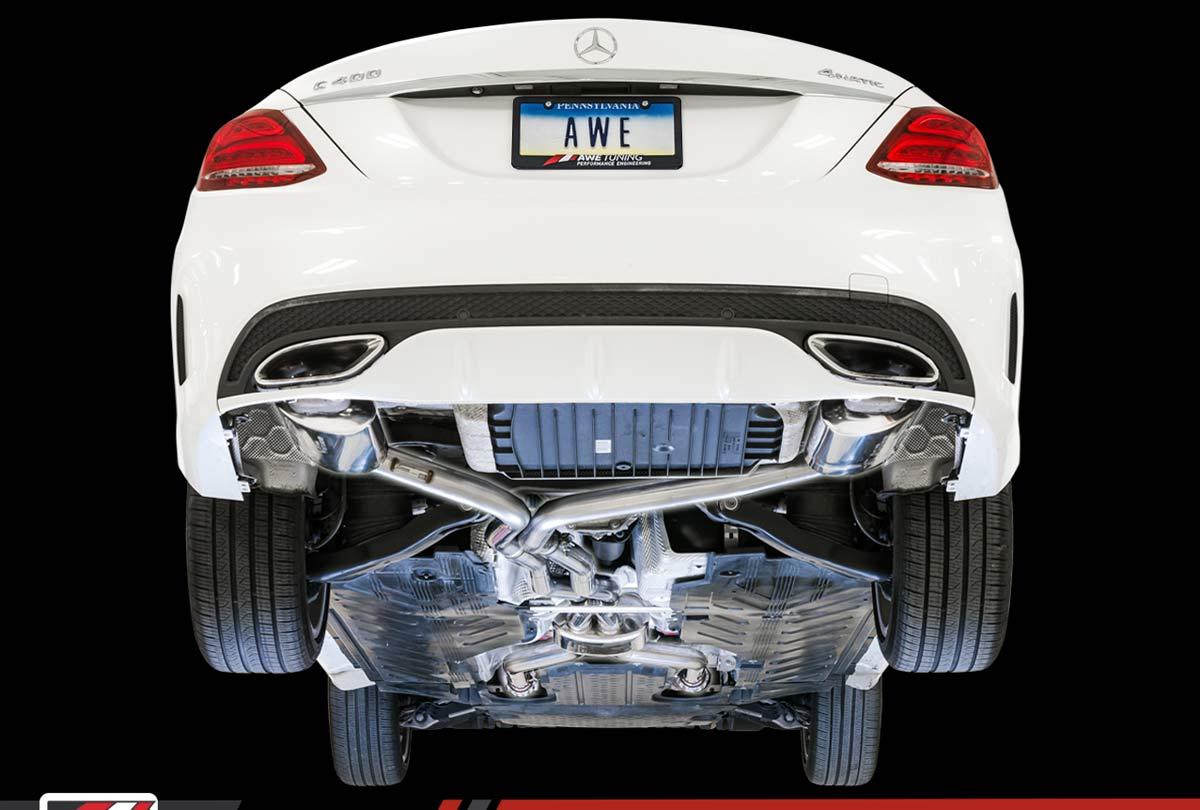 AWE Tuning 3015-31012 | Mercedes-Benz C400 Sedan 3 0L Turbo W205 Touring  Edition Exhaust