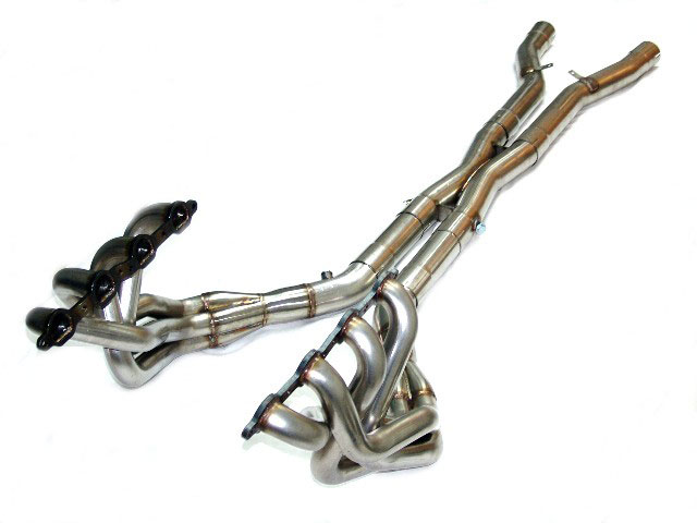 LG Motorsports LGC7SPSMM | Super Pro Corvette C7 Long Tube Headers Stepped  1-3/4 to 1-7/8 with xpipe w/ cats