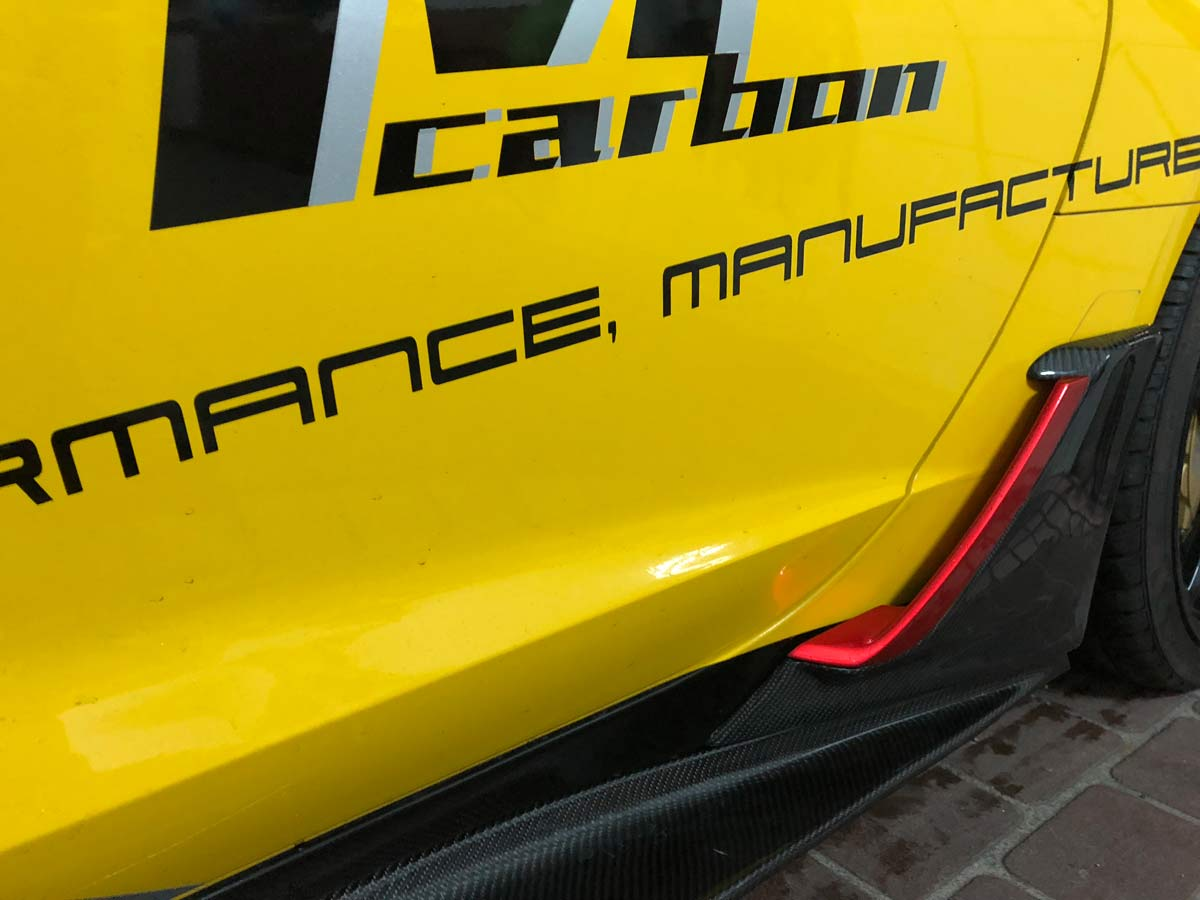 2014-2019 Corvette C7 Bolsa De Rota De Fibra De Carbono Look Vinil 699320