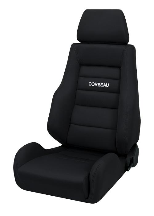 Corbeau 20301 - Corbeau GTS II Reclining Seat in Black Cloth