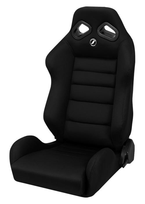 Corbeau 20801W - Corbeau TRS Reclining Seat in Black Cloth - Wide