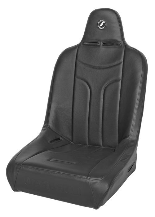 Corbeau 26401W - Corbeau Baja JP Suspension Seat in Black Vinyl - Wide