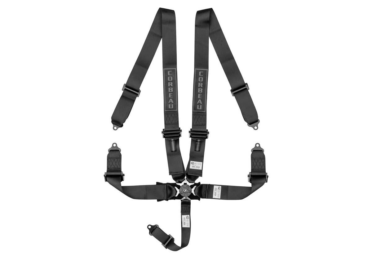 Corbeau 53001B - Corbeau 3 Inch 5-Point Harness Belt with Camlock - Black