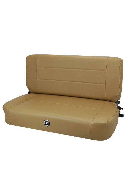 Corbeau 60070 - Corbeau Safari Fold and Tumble Bench Seat in Spice Vinyl