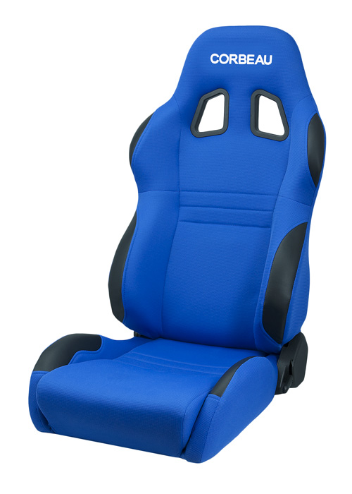Corbeau 60095 - Corbeau A4 Reclining Seat in Blue Cloth (Sold in Pairs, Price is for 2 Seats)
