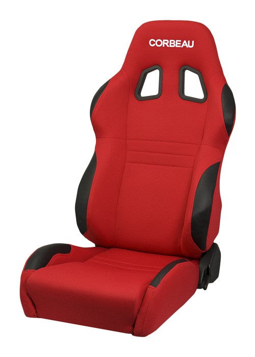 Corbeau 60097 - Corbeau A4 Reclining Seat in Red Cloth (Sold in Pairs, Price is for 2 Seats)