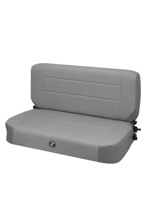Corbeau 60099 - Corbeau Safari Fold and Tumble Bench Seat in Grey Vinyl / Cloth
