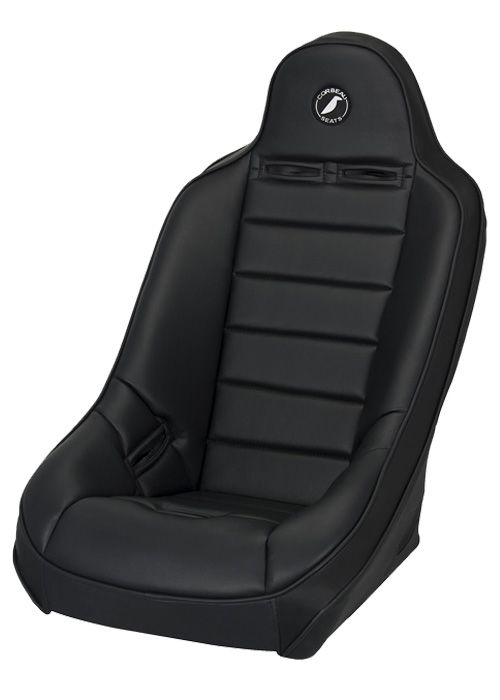 Corbeau 69410 - Corbeau Baja Ultra Suspension Seat in Black Vinyl