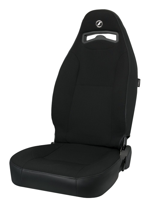 Corbeau 70011 - Corbeau Moab Reclining Seat in Black Vinyl / Cloth (Sold in Pairs, Price is for 2 Seats)