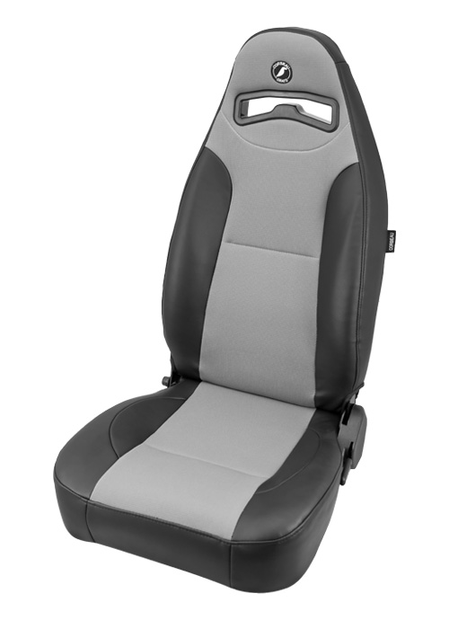 Corbeau 70019 - Corbeau Moab Reclining Seat in Black Vinyl / Grey Cloth (Sold in Pairs, Price is for 2 Seats)