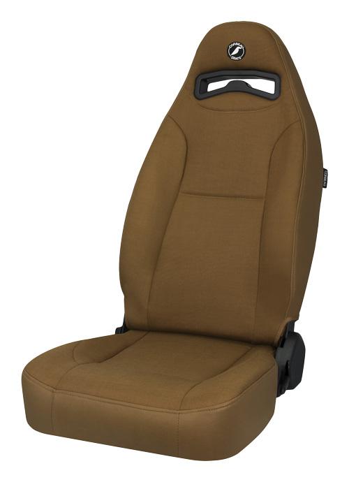 Corbeau 70066 - Corbeau Moab Reclining Seat in Tan Vinyl / Cloth