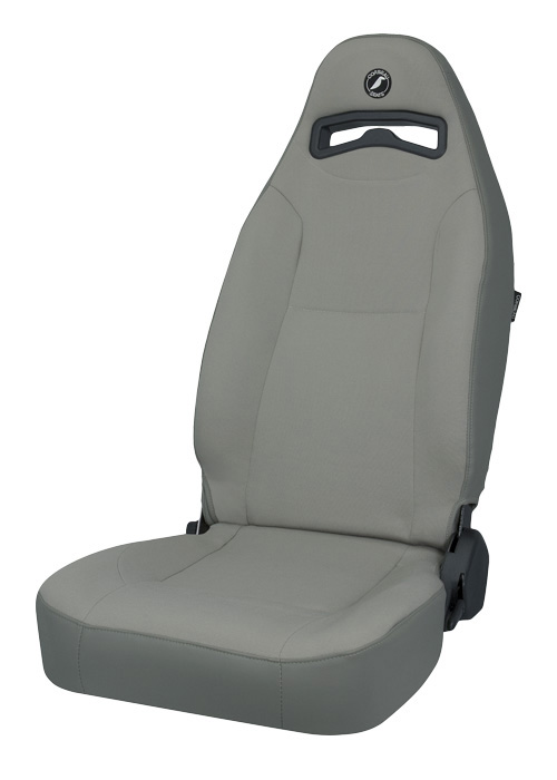 Corbeau 70099 - Corbeau Moab Reclining Seat in Grey Vinyl / Cloth (Sold in Pairs, Price is for 2 Seats)