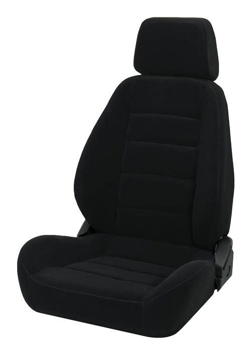 Corbeau 90001 - Corbeau Sport Seat (new style) Reclining Seat in Black Cloth