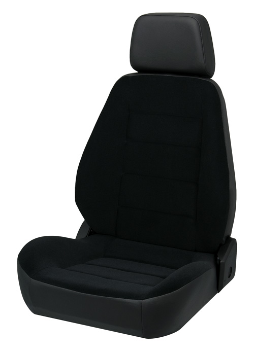 Corbeau 90011 - Corbeau Sport Seat (new style) Reclining Seat in Black Vinyl/Cloth