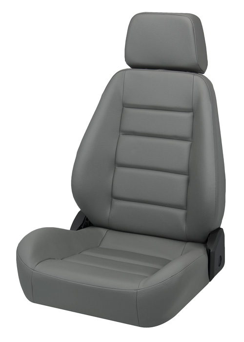 Corbeau 90090 - Corbeau Sport Seat (new style) Reclining Seat in Grey Vinyl (Sold in Pairs, Price is for 2 Seats)