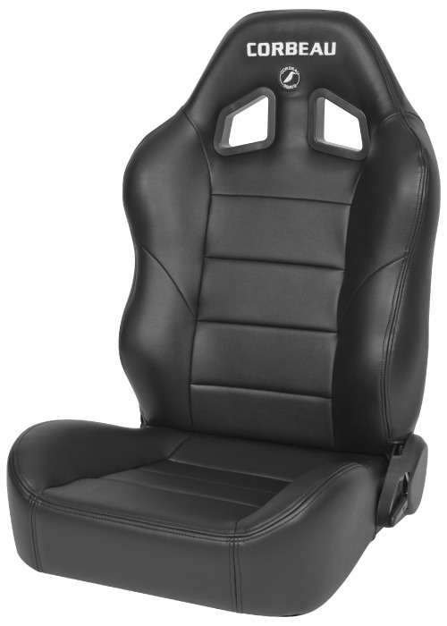 Corbeau 96601 - Corbeau Baja XRS Reclining Suspension Seat in Black Vinyl (Sold in Pairs, Price is for 2 Seats)