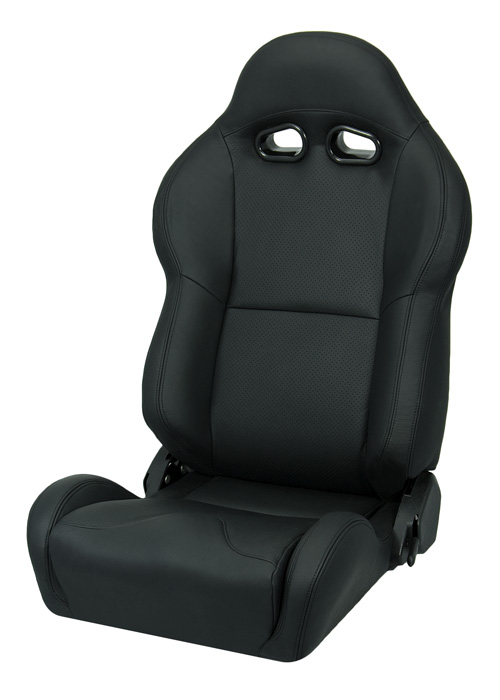 Corbeau L20001 - Corbeau VX2000 Reclining Seat in Black Leather (Sold in Pairs, Price is for 2 Seats)