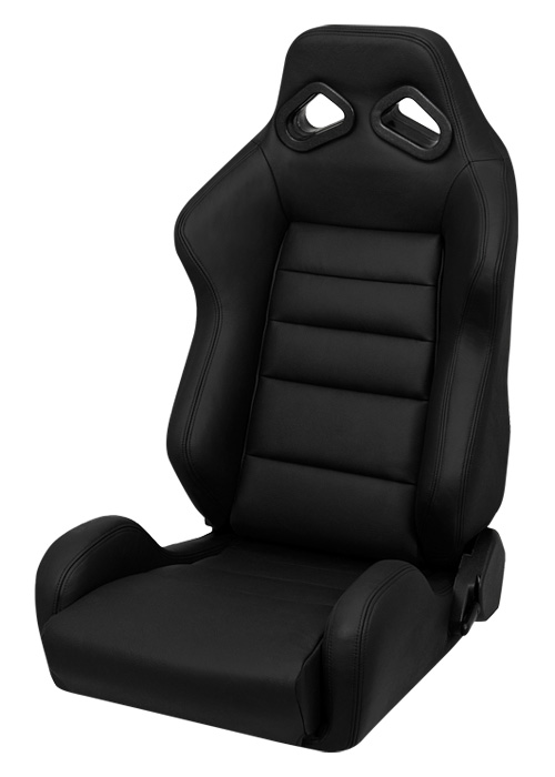 Corbeau L20801 - Corbeau TRS Reclining Seat in Black Leather (Sold in Pairs, Price is for 2 Seats)