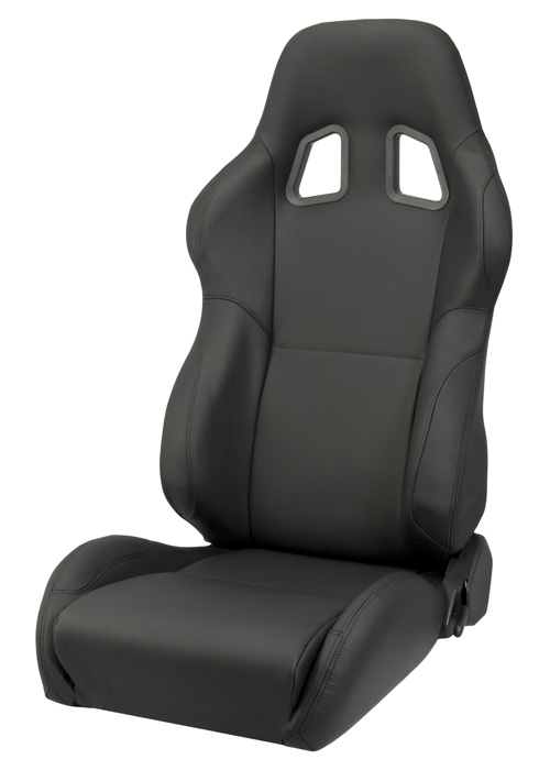 Corbeau L60091 - Corbeau A4 Reclining Seat in Black Leather (Sold in Pairs, Price is for 2 Seats)