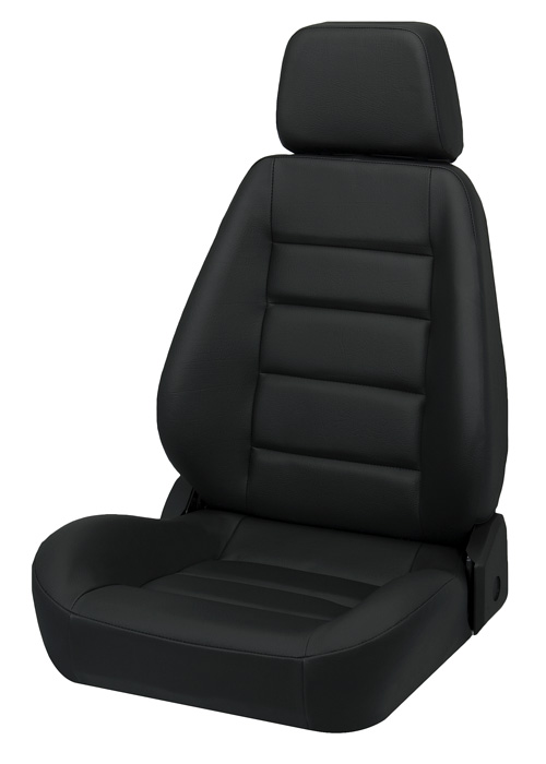 Corbeau L90001 - Corbeau Sport Seat (new style) Reclining Seat in Black Leather (Sold in Pairs, Price is for 2 Seats)