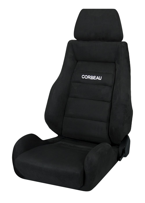 Corbeau S20301 - Corbeau GTS II Reclining Seat in Black Microsuede (Sold in Pairs, Price is for 2 Seats)