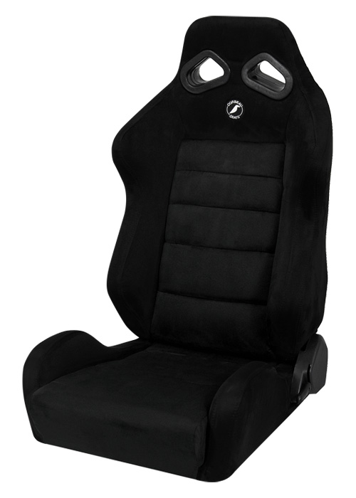 Corbeau S20801 - Corbeau TRS Reclining Seat in Black Microsuede (Sold in Pairs, Price is for 2 Seats)