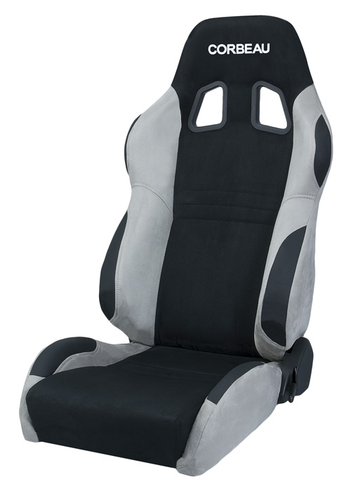 Corbeau S60099 - Corbeau A4 Reclining Seat in Grey/Black Microsuede