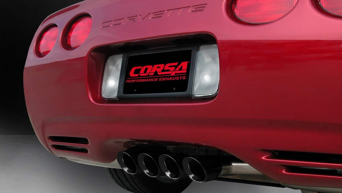 Corsa Performance 14139blk Corsa Corvette Axle Back Exhaust C5 5 7