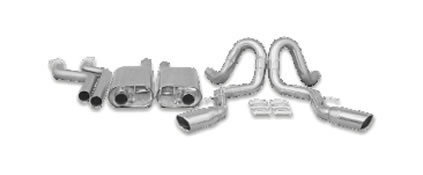 B&B Billy Boat Exhaust FIMP-0015 - Billy Boat B&B Chevrolet Impala SS 1994 - 1995 2-1/2'' Side Exit